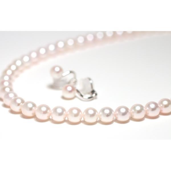 パールネックレス 冠婚葬祭  アコヤ真珠7.5-8mmネックレスとイヤリングの2点セット|wizem|05