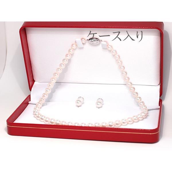 パールネックレス 冠婚葬祭  アコヤ真珠7.5-8mmネックレスとイヤリングの2点セット|wizem|07
