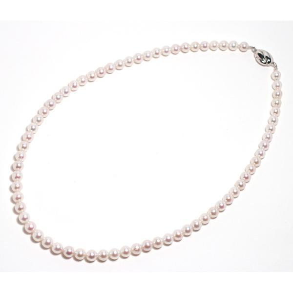 あこやベビーパールネックレス5.5-6mmセミラウンド形SV金具込約42cm 真珠 ネックレス|wizem