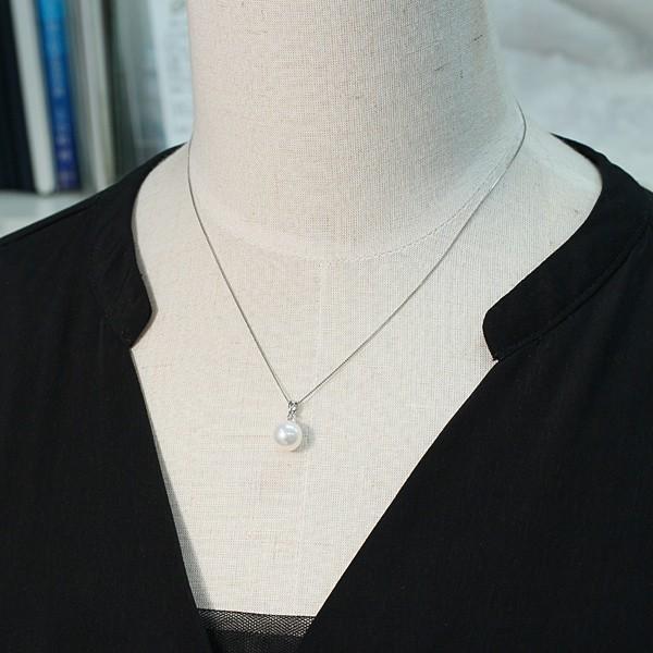 定番プラチナ枠パールペンダントあこや真珠9.0mm長さが変えられるプラチナネックレス45cm付誕生石6月日本製ギフトラッピング|wizem|07