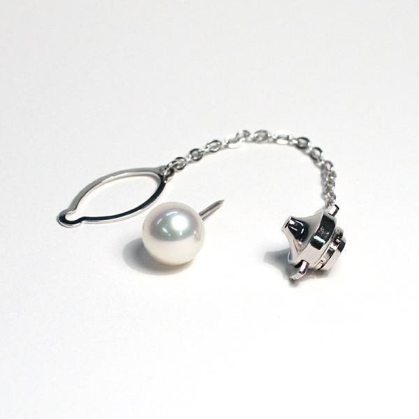 アコヤ真珠8.9mmタイタック プラチナ製pt900タック針 冠婚葬祭ギフトラッピング|wizem|03
