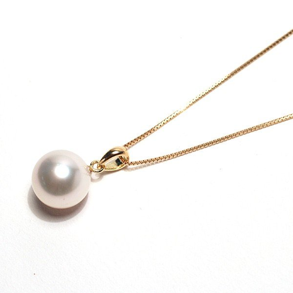 定番K18パールペンダントあこや真珠8.8mm長さが変えられるK18チェーン付誕生石6月日本製ギフトラッピング|wizem|02
