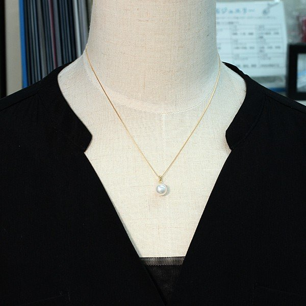 定番K18パールペンダントあこや真珠8.8mm長さが変えられるK18チェーン付誕生石6月日本製ギフトラッピング|wizem|07