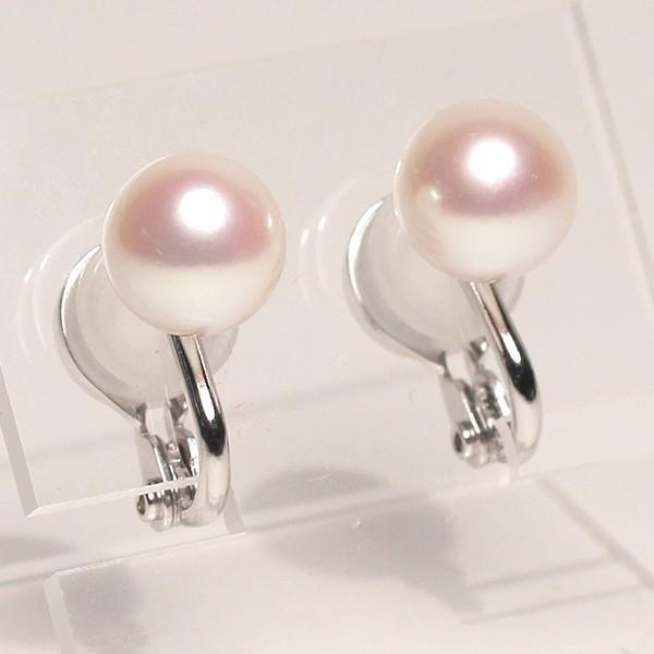 パールイヤリングあこや真珠8.8mmSILVERソフトタッチイヤリング|wizem|02