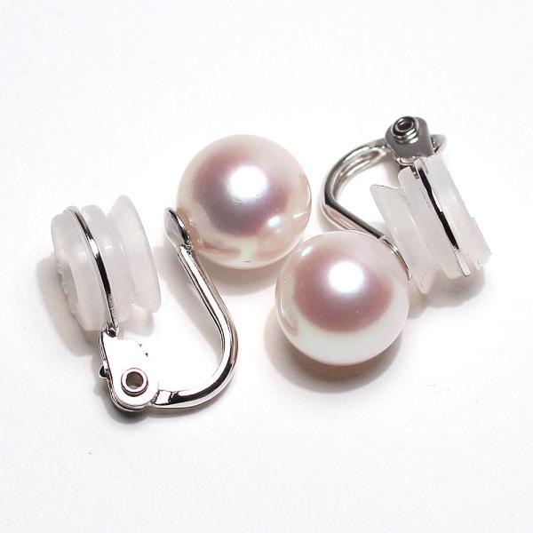 パールイヤリングあこや真珠8.8mmSILVERソフトタッチイヤリング|wizem|04