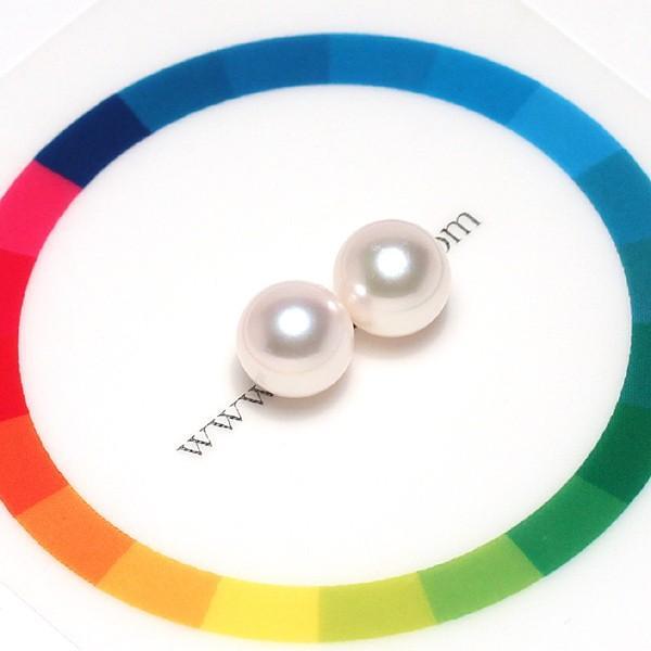 パール直径7.5mmペア2珠アコヤ真珠イヤリングピアス用の 片穴あき珠のみ|wizem|02