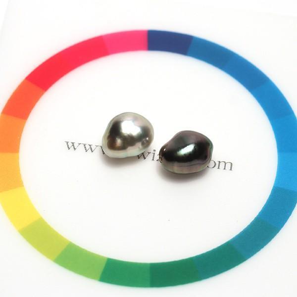 黒蝶真珠のケシ珠2珠ルース  片穴あき材料/ポスト投函対応商品送料360円も選べる|wizem|07