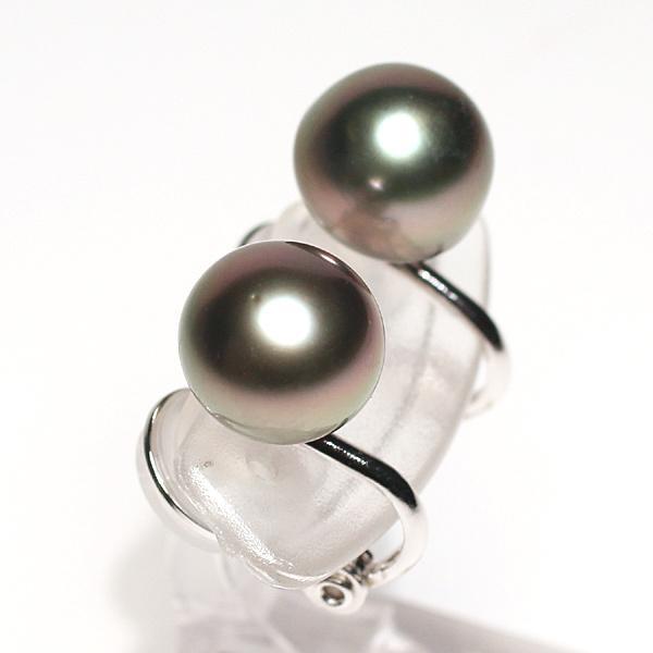 ブラックパールイヤリング タヒチ黒真珠9.9mm微調整できるシルバー製ソフトタッチイヤリング|wizem|04