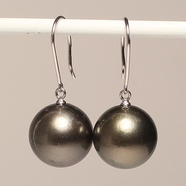 ブラックパールルース黒蝶真珠直径12.2mm2珠真珠表面に肌荒れあり|wizem|03