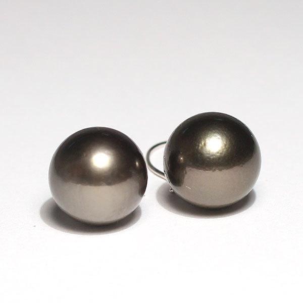 ブラックパールルース黒蝶真珠直径12.2mm2珠真珠表面に肌荒れあり|wizem|04