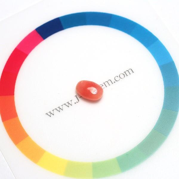 コンクパールルース0.92ct平たい形状で場面が広い約7.5mmx4.95mm×3.1mmオレンジッシュピンク色良い|wizem|08