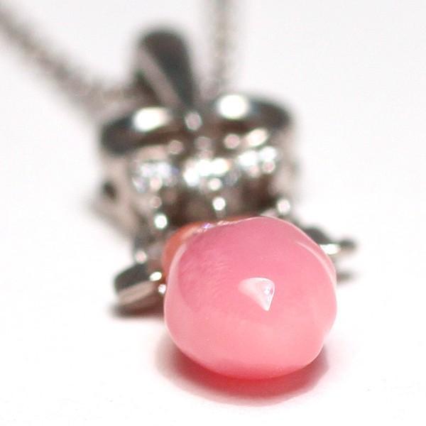 天然真珠ならではのバロック形コンクパール0.84ctプラチナダイヤペンダント 火炎模様 縦約20.5mm×5.7mm|wizem|02