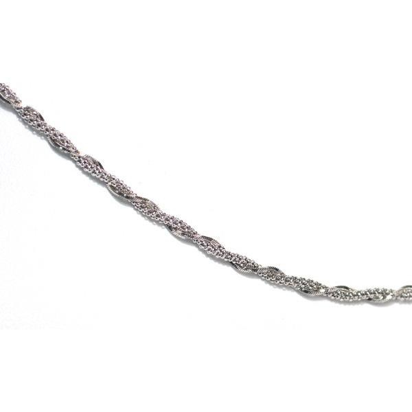 ホワイトゴールドデザインチェーンネックレス50cm/K18WG/9.35g|wizem|03
