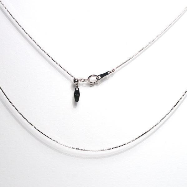 プラチナチェーンネックレス 45cmフリーpt850ベネチアン太さ0.7mm2.3g長さが変えられるネックレス|wizem|03
