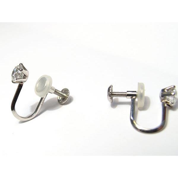 ダイヤモンドイヤリング0.614ct プラチナ製ネジ式 Fカラー 中央宝石研究所のグレーディングレポート付|wizem|03