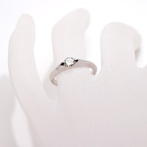 ダイヤモンドリングPT900プラチナ製0.28ctサイズ11|wizem|06