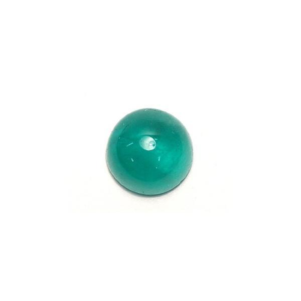 エメラルドルース3.243ct カボションカット 9.3mm×9.2mm ソーティング付/中宝研|wizem