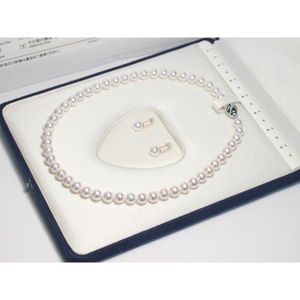 無調色オーロラ花珠真珠ネックレス8-8.5mmピアス2点セット真珠科学研究所の鑑別書S421477付属高機能ケース入り冠婚葬祭|wizem|04