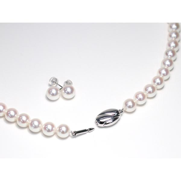 無調色オーロラ花珠真珠ネックレス8-8.5mmピアス2点セット真珠科学研究所の鑑別書S421477付属高機能ケース入り冠婚葬祭|wizem|05