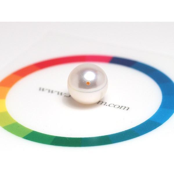 指輪用真珠ルース 花珠真珠10.1mmリング用珠のみ片穴あきオーロラ花珠鑑別書付|wizem|05