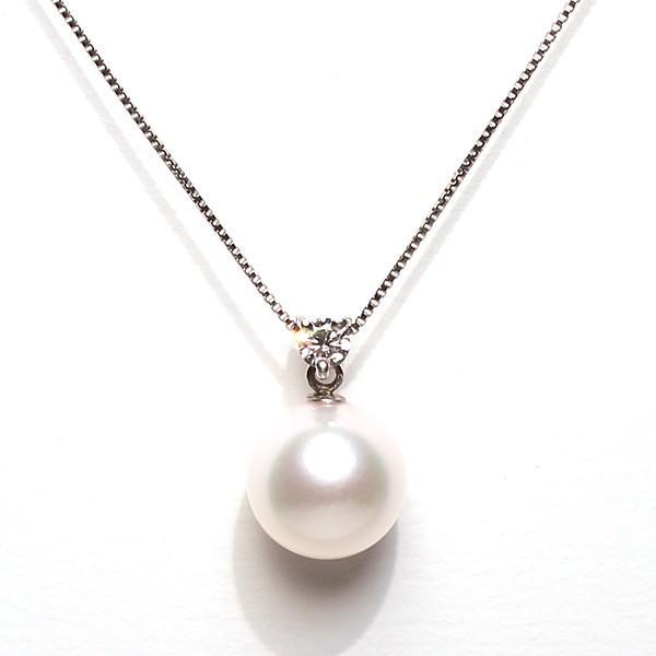 パール指輪 花珠真珠9.0mmリング用ルース片穴あきオーロラ花珠ソーティング簡易鑑別付|wizem