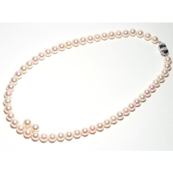 パールネックレス 冠婚葬祭 オーロラ花珠真珠7.5-8mmネックレスと8.2mmペア2点セット真珠科学研究所の鑑別書付パールキーパー高機能ケース入り色で特価|wizem|02