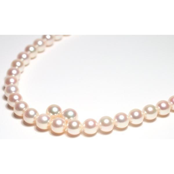 パールネックレス 冠婚葬祭 オーロラ花珠真珠7.5-8mmネックレスと8.2mmペア2点セット真珠科学研究所の鑑別書付パールキーパー高機能ケース入り色で特価|wizem|03