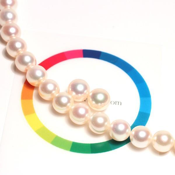 パールネックレス 冠婚葬祭 オーロラ花珠真珠7.5-8mmネックレスと8.2mmペア2点セット真珠科学研究所の鑑別書付パールキーパー高機能ケース入り色で特価|wizem|06
