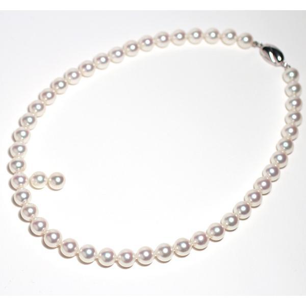 真珠ネックレス 無調色 オーロラ花珠9-9.5mmパールネックレス鑑別書S533828付パールキーパー高機能ケース入り冠婚葬祭|wizem|02
