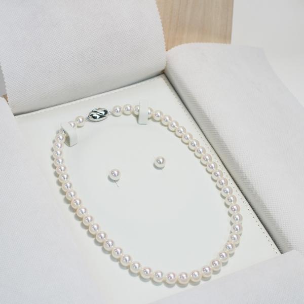 パールネックレス用桐ケース 桐箱は自然の湿度調整機能があり良いケース真珠ネックレスの保管用桐箱|wizem|03