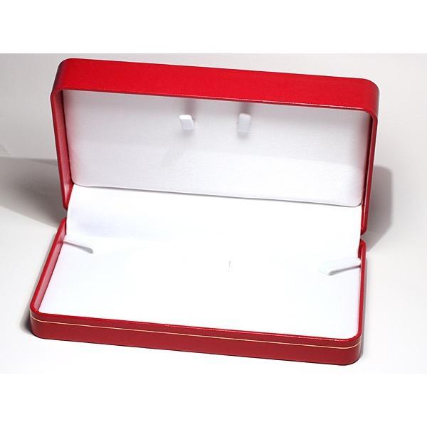 ネックレスケース/ネックレスとイヤリングやピアスをセット18cm×10.5cm×厚み4.2cm赤色|wizem