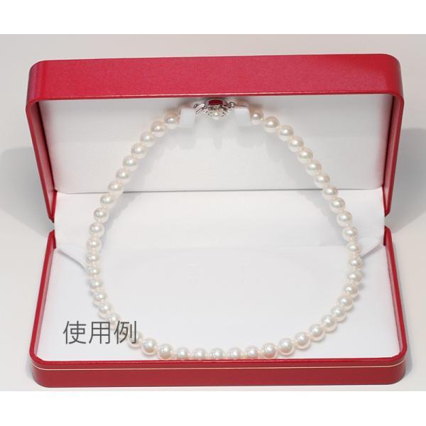 ネックレスケース/ネックレスとイヤリングやピアスをセット18cm×10.5cm×厚み4.2cm赤色|wizem|03