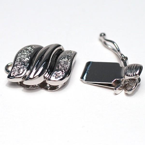 クラスプ ホワイトゴールド製K14WG パールネックレス用留め具 安心のセイフティ付|wizem|02