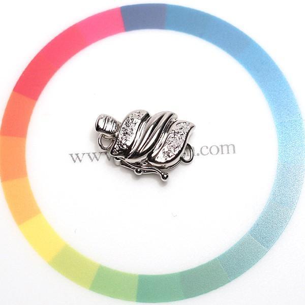 クラスプ ホワイトゴールド製K14WG パールネックレス用留め具 安心のセイフティ付|wizem|06