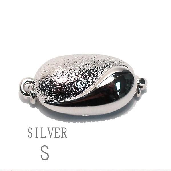 真珠ネックレス用クラスプ SILVERワンタッチSサイズ パールネックレス用留め金具選べる配送方法360円対応商品|wizem