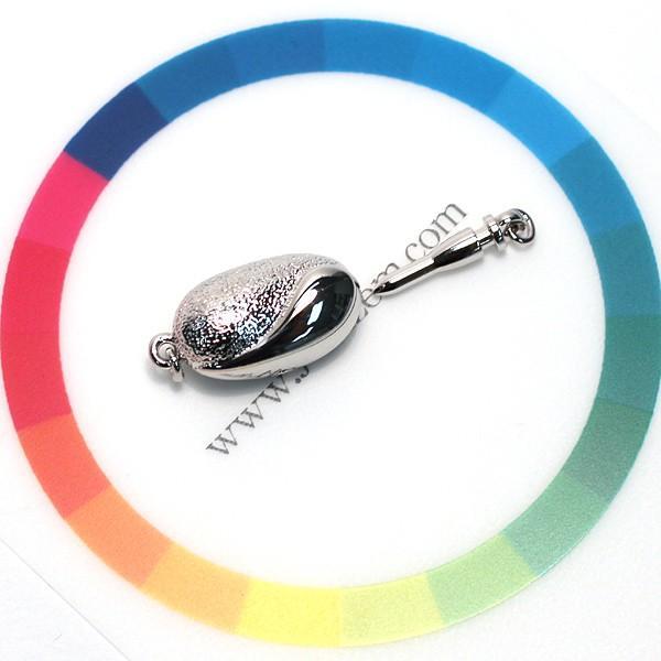 真珠ネックレス用クラスプ SILVERワンタッチSサイズ パールネックレス用留め金具選べる配送方法360円対応商品|wizem|04