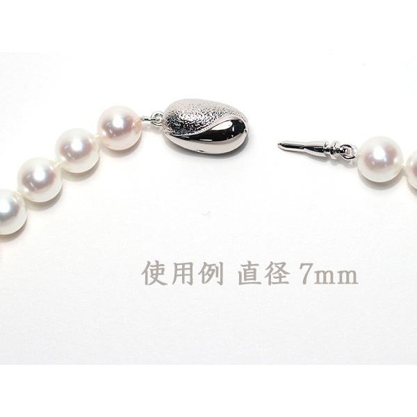 真珠ネックレス用クラスプ SILVERワンタッチSサイズ パールネックレス用留め金具選べる配送方法360円対応商品|wizem|05