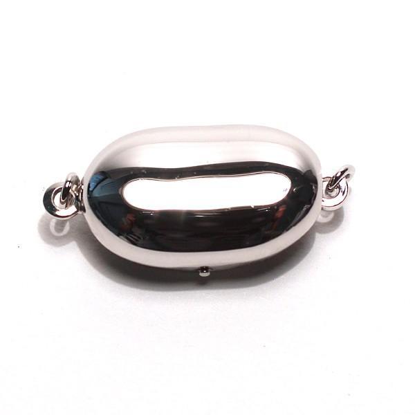 真珠ネックレス用クラスプ SILVERワンタッチMサイズ パールネックレス用留め金具/配送方法360円選べる対応商品|wizem