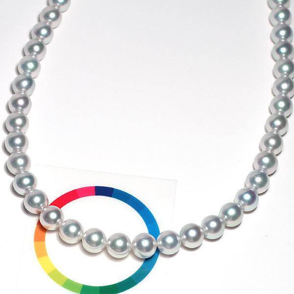 真珠 ネックレス オーロラ真多麻(まだま)9-9.5mmパールネックレス真珠科学研究所の鑑別書S280361高機能ケース入りパールネックレス 冠婚葬祭|wizem|02