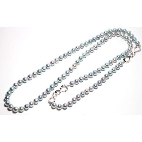 ナチュラル色アコヤ真珠ロングネックレス8-8.5mmブルー系バロック形ブレスレットとセット/すべてつなげて最長93cmロングにもできるコンバーチブルタイプ|wizem|04