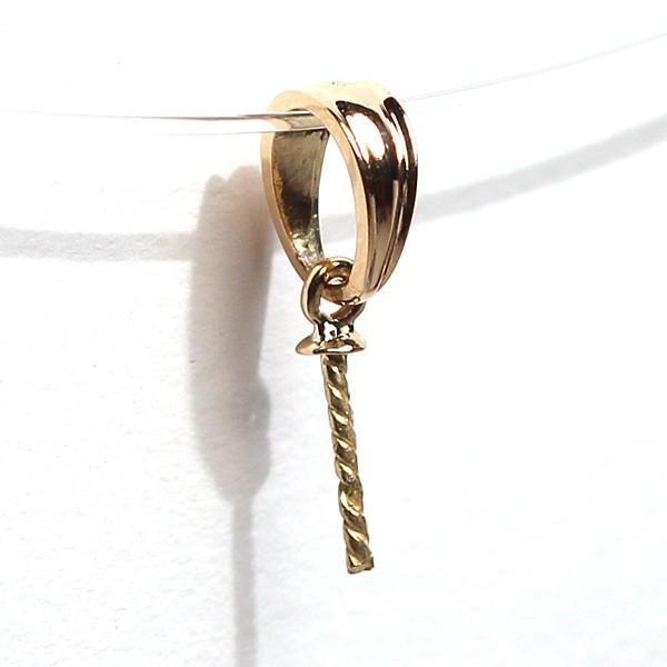 ペンダント金具パール用K18イエローゴールド製2mm皿つきさし付きのバチカン wizem