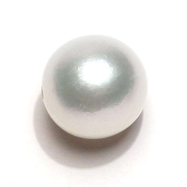 白蝶真珠12mmUPルース スライドピンフリーチェーン用に貫通穴径1.2mm開いてます|wizem|03