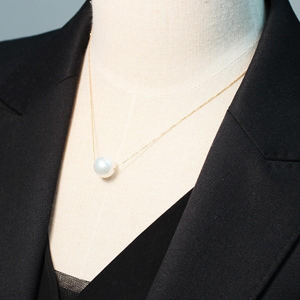 白蝶真珠12mmUPルース スライドピンフリーチェーン用に貫通穴径1.2mm開いてます|wizem|04