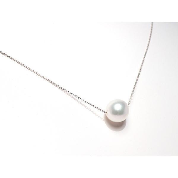 白蝶真珠12mmUPルース スライドピンフリーチェーン用に貫通穴径1.2mm開いてます|wizem|05