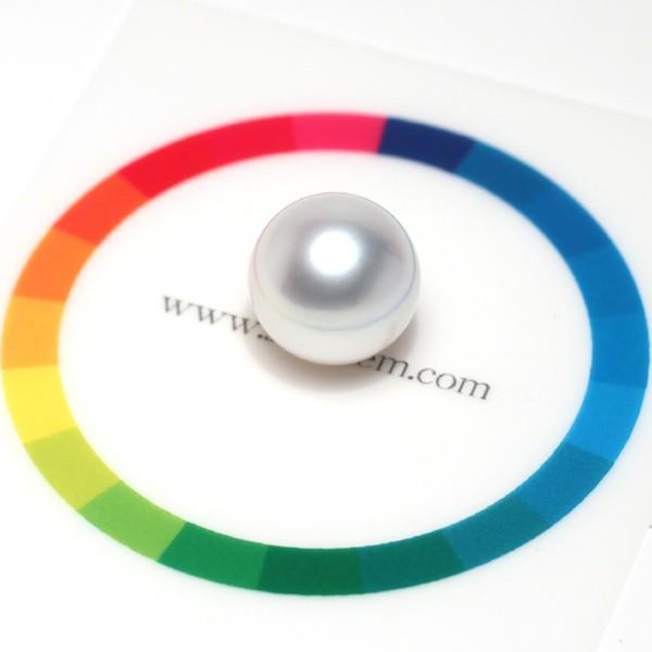白蝶真珠直径12.6mmパールルース ラウンド形珠のみキズほぼなし穴あき指輪やペンダント加工に|wizem|03