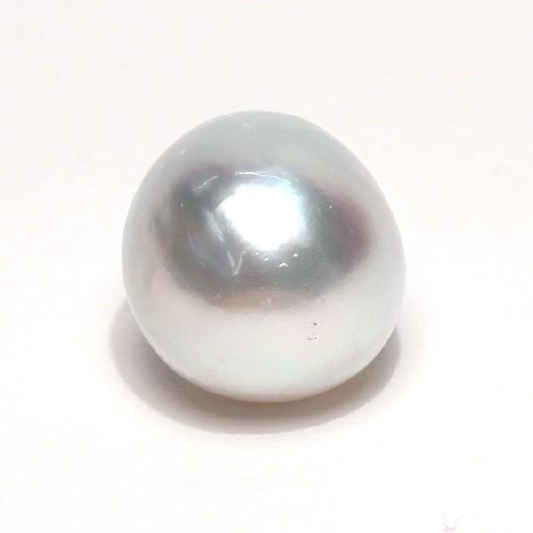 白蝶真珠バロック形13.2mm×15.8mm1珠青色を帯びた白色|wizem|02
