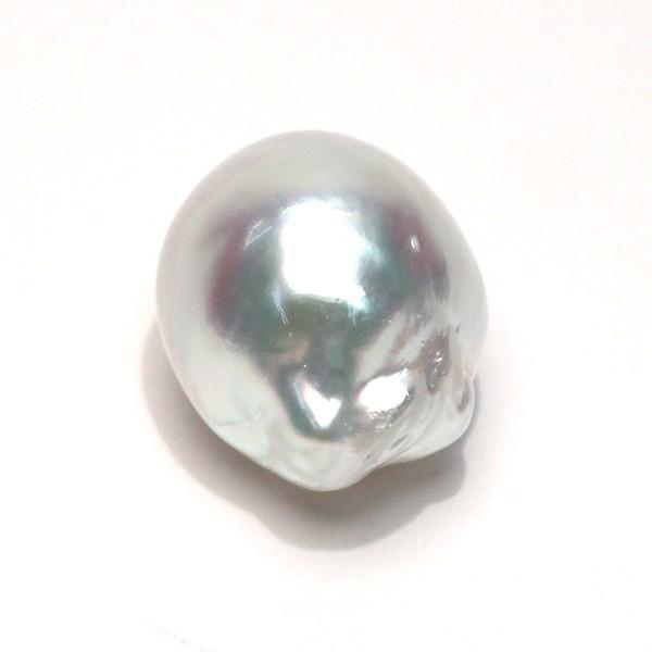 白蝶真珠バロック形13.2mm×15.8mm1珠青色を帯びた白色|wizem|04