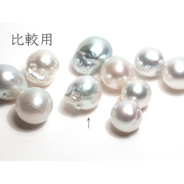 白蝶真珠バロック形13.2mm×15.8mm1珠青色を帯びた白色|wizem|05