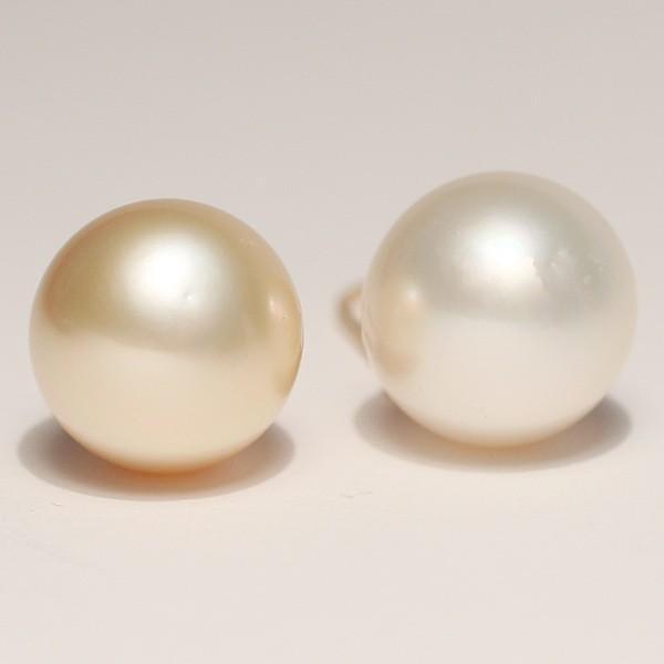 K18パールフックピアス ゴールド&ホワイト色白蝶真珠幅10.8mm縦11.6mmUPつりばり型L|wizem|04