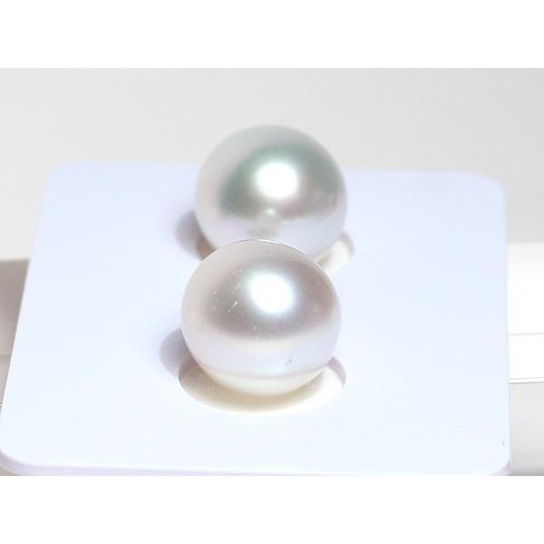 パールペアルース白蝶真珠2珠 幅9.3mm縦9.7mmオーバル形無穴材料|wizem|04